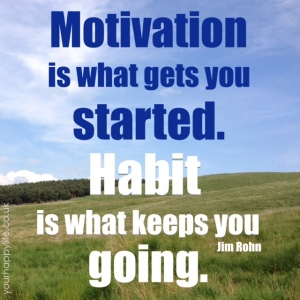 Motivation gets you started, habit makes it stick
