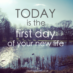 Today is the first day of your new life, don't let time get in the way of you getting what you really want.